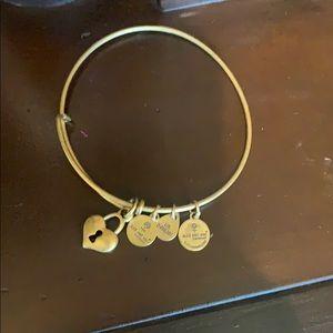Alex and Ani heart bracelet gold